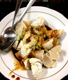 pempek panggang - baked fishcake - south sumatera, indonesia
