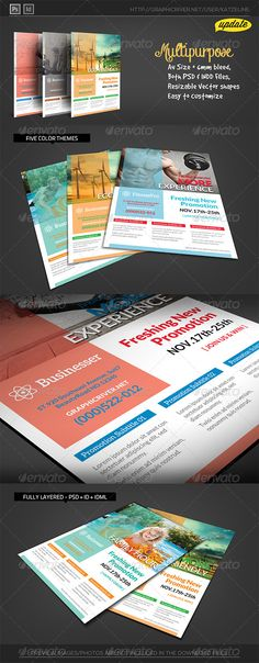 Tourism Events Calendar Flyer Template  Flyer Template Template