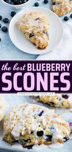 Make the BEST Blueberry Scones for a special yet easy breakfast idea on weekends! Thanks to a few tips, they come out perfectly soft and moist every time. Save this easy summer recipe and try it! Easy Bread Recipes, Fun Easy Recipes, Summer Recipes, Sweet Recipes, Delicious Breakfast Recipes, Brunch Recipes, Gourmet Recipes, Baking Recipes, Perfect Scones Recipe