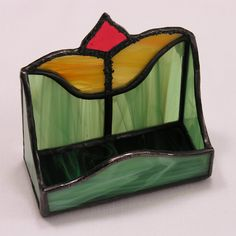 Stained Glass CardHolders / ML's Tulip .jpg