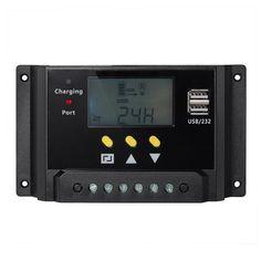 Signstek Solar Panel Regler Laderegler 12V / 24V 240W/480W 30A PWM LCD Display…