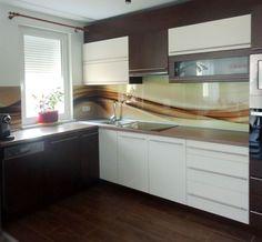 Nyomtatással dekorált konyha hátfal