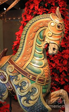 Carousel Horse Vintage Carousel Horse by Suzanne Gaff.Vintage Carousel Horse by Suzanne Gaff. Far Rockaway Beach, The Magic Faraway Tree, Carosel Horse, Painted Pony, Hand Painted, Hand Carved, Wooden Horse, Merry Go Round, Vintage Circus