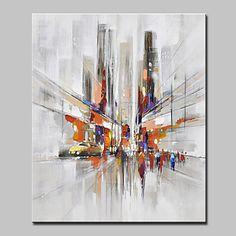 Peint à la main Paysage Paysages Abstraits Verticale,Moderne Style européen Un Panneau Toile Peinture à l'huile Hang-peint For Décoration de 5593392 2017 à $50.99