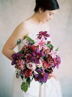 Rich Jewel Toned Purple Bouquet | Rebecca Hollis Photography on @heyweddinglady