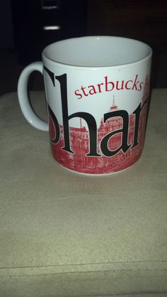 The first of 21 destination mugs. One City Mug from a Starbucks that I have been to and actually had a cup of coffee at. Today I remember Shanghai.