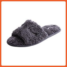 WILLIAM&KATE WK1610008 Women's Open Toe Causal Slipper (36-37/5.5-6B(m)US, Dark) - Slippers for women (*Amazon Partner-Link)