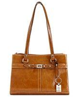 Giani Bernini Handbag, Glazed Leather Triple Entry Satchel