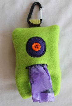 WICKED LITTLE MONSTERS Dog Mess Bag Dispenser by ArtbyNadya, $10.00