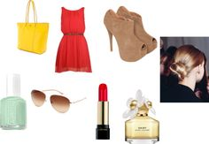 """""""red dress"""" by dreamer-dx on Polyvore"""