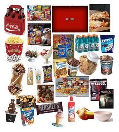 """Netflix and junkfood"" by love-5secondsofsummer ❤ liked on Polyvore featuring Junk Food Clothing, Picnic Time, OXO, West Bend, Mud Australia, Golden Edibles, Hershey's and Kalorik"