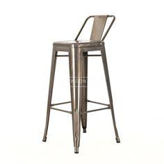 Vintage geïnspireerde Café barkruk naar ontwerp van Xavier Pauchard. Tijdloos industrieel design uit Frankrijk. Beschikbaar in stijlvol zwart en robuust industrieel koper.