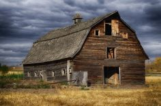 An old weathered barn Glen on Google+ found just west of Edmonton, Canada