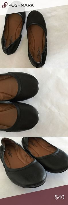 Lucky Brand Emmie Flats Black Size 8 Cute ballet flats! Super comfy, versatile and how can you not love its details?  Purchased from Lucky Brand at full price and worn a few times.  In very good condition. Lucky Brand Shoes Flats & Loafers