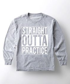 Athletic Heather 'Straight Outta Practice' Long-Sleeve Tee - Toddler & Kids #zulily #zulilyfinds