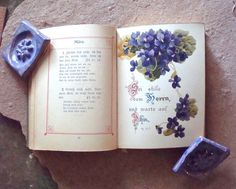 "This is a miniature, antique hardcover book, Christian Forget Me Not ~ Illustrated Edition or Christliches Vergissmeinnicht - Illustrierte Ausgabe. Written entirely in German using an old German gothic style font.  A ""forget me not"" book is a kind of friendship book. This book has a pious quotation for every day of the year. A friend would put his or her name and year of birth on the date of his or her birthday, so you will never forget your friend's birthday. Every month has a beautiful…"