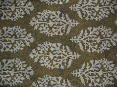 Indian Block Print Cotton Fabric in Moss Green Yardage via Etsy