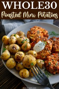 When I did Whole30, the only things that would satisfy a carb craving were these baby roasted potatoes. I made them at least twice a week and they're still my go-to veggie side dish! #whole30 #minipotatoes #roastedpotatoes #vegetables #sidedishrecipe Tasty Potato Recipes, Healthy Vegetable Recipes, Yummy Pasta Recipes, Sprout Recipes, Vegetarian Recipes, Best Side Dishes, Veggie Side Dishes, Healthy Side Dishes, Vegetable Dishes