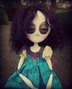 Gothic Art Doll, OOAK Handmade Dark Manor Doll, Molly