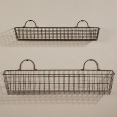 Set of Large Wire Baskets - mount on the kitchen wall and use as produce baskets?