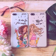 Pin by *mel 🥀 🖤 ™* on phone cases лучшие друзья навсегда, Bff Cases, Cute Phone Cases, Friends Phone Case, Diy Phone Case, Summer Iphone Cases, Accessoires Iphone, Phone Organization, Coque Iphone, Iphone 7