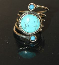 Anillo plata y Turquesa Rings, Jewelry, Turquoise, Silver, Jewlery, Jewerly, Ring, Schmuck, Jewelry Rings