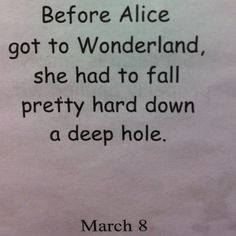 Before Alice got to Wonderland