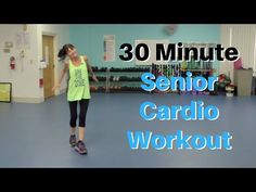 30 Minute Cardio Workout For Seniors - Fitness With Cindy This week's video is a feel-good, medium-intensity 30 minute cardio workout that will boost your energy and your mood. Cardio is a must for strengthening your heart, circulatory system and lu… 30 Minute Cardio Workout, Cardio Workout At Home, Cardio Training, Workout Music, At Home Workouts, Cardio Workouts, Fitness Workouts, Fitness Motivation, Lunge
