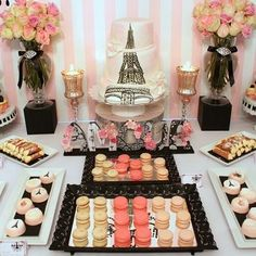 Oui oui! Paris Dessert Table for any Birthday Party!