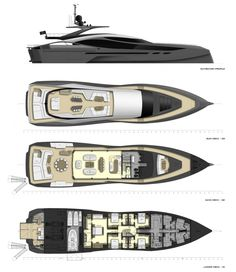 Renderings Of New Supersport From Palmer Johnson Show Wild Design - Ocean Of News Big Yachts, Small Yachts, Super Yachts, Luxury Yachts, Sailboat Yacht, Yacht Boat, Yacht Design, Boat Design, Speed Boats