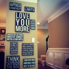 Wall of Words! Love this idea!