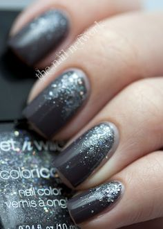 Zoya Petra with Wet 'n' Wild Color Icon Diamond in the Rough sponged near the cuticle