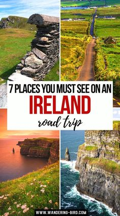 May 13, 2021 - Planning an Ireland road trip? Want to know the best itineraries & places to visit for your Irish adventures? Here are 7 epic road trip ideas for you... European Road Trip, Road Trip Europe, Europe Travel Tips, Europe Destinations, Travel Abroad, Ireland Vacation, Traveling To Ireland, Ireland Travel Guide, Traveling Europe