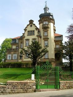 Villa Ipser Zweibruecken  am Rothenburg , built in 1908, ...Alte Steinhauser Strasse 11,   on the road up the hill , 3.6 km or 5 minutes  to Zweibruecken Airbase. The old house survived the Canadian Air Force bombing of Zweibruecken on March 14, 1945 that destroyed 80% of the town.