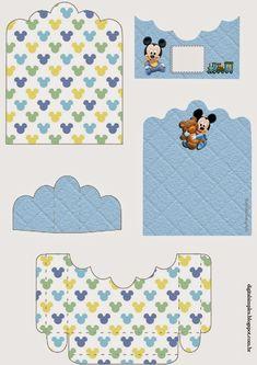 Mickey Bebé: Soporte para Golosinas para Imprimir Gratis.