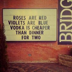 wisdom from a pub sign