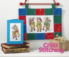 cross stitch reindeer - Google Search Ursula Michael in The World of Cross Sittching magazine issue 196 Would be great if designer would chart all of Santa's reindeer with names. Very cute.