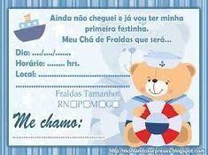 convite-ursinho-marinheiro continue vendo... Confirmation Letter, Baby Boy, Family Guy, Teddy Bear, Baby Shower, Download, Bernardo, Gabriel, Continue