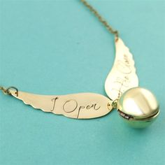Harry Potter Golden Snitch Locket Necklace - Spiffing Jewelry - I open at the close