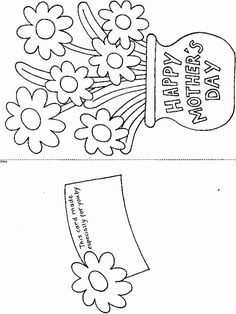 Print Printable Mother's Day Card coloring page & book. Your own Printable Mother's Day Card printable coloring page. With over 4000 coloring pages including Printable Mother's Day Card . Mothers Day Crafts For Kids, Fathers Day Crafts, Happy Mothers Day, Mothers Day Book, Mothers Day Cards Printable, Mothers Day Card Template, Printable Cards, Free Mothers Day Cards, Mothers Day Coloring Sheets