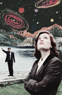 Dana Scully + Fox Mulder (The X-Files)