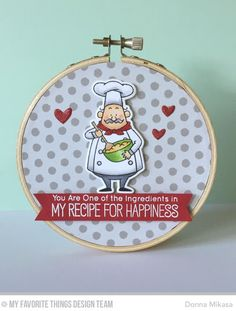 Recipe for Happiness, Recipe for Happiness Die-namics, Tag Builder Blueprints 5 Die-namics - Donna Mikasa #mftstamps