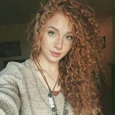 Cacheada cachos curly hair ruivo