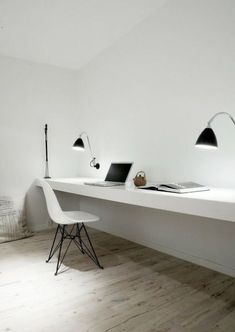 47 best Minimalist Home Offices images on Pinterest | Home office ...