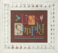 Lizzie Kate QuickIt Q004  Live Simply  Cross by DebiCreations, $4.49