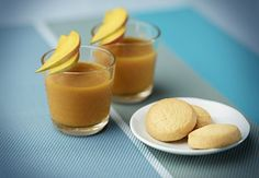 Iced Coffee with Mango Coulis | Exotic and delicious, this iced tropical fruit coffee is sweetly refreshing and wholly satisfying.