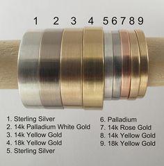 4mm Classic Men's Wedding Ring Handmade by AideMemoire on Etsy, $315.00 Bill likes 2,3,6 &7 :)