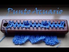 Punto Acuario en Telar Maya/ Aquarius stitch on loom - YouTube