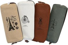 Amazon.com: Set of 4, IPOW Hot Vintage Canvas Student Pen Pencil Case Coin Purse Pouch Cosmetic Makeup Bag: Office Products