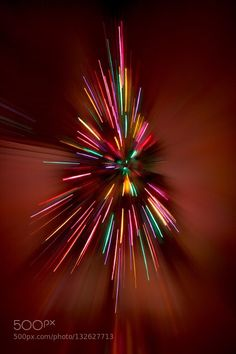 Christmas Lights - Pinned by Mak Khalaf Abstract ChristmasColorsLightsShutterSlowZoom out by marivel71
